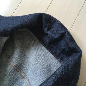 ジージャン(デニムジャケット)の襟の色落ち