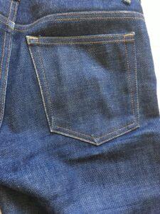 デニムのバックポケットの色落ち
