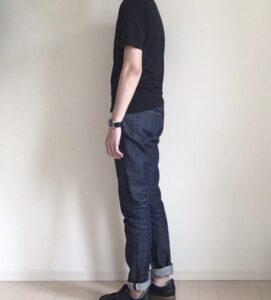 黒Tシャツとデニム(ジーンズ)の着こなし
