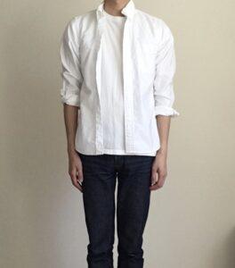 インナーに白シャツを使う
