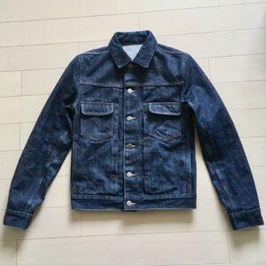 【ジージャンのファーストウォッシュ】アーペーセーデニムジャケット1000時間目の色落ちと縮み(a.p.c denim jacket)