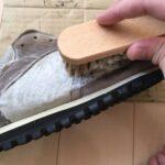 【ジェイソンマーク靴用洗剤の使い方】スウェードとナイロンコンビ素材のスニーカーを洗う