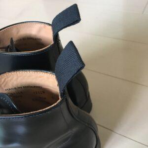 履き口に綾織のストラップ