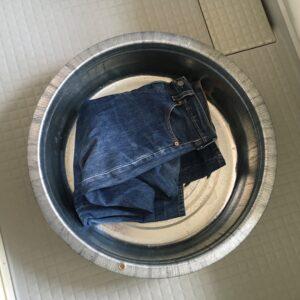 デニムを表のまま洗濯