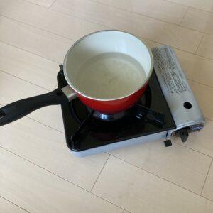 リプルーフに必要な鍋とコンロ